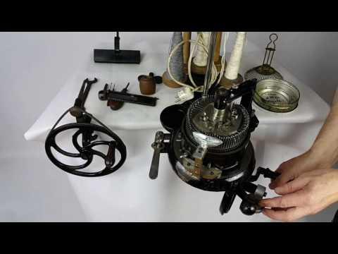 Strickmaschine - Sockenstrickmaschine - Rundstrickmaschinen 1915 jahr