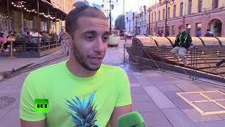 Famous Egyptian fan in a wheelchair: