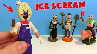 Лепим МОРОЖЕНЩИКА из игры Ice Scream