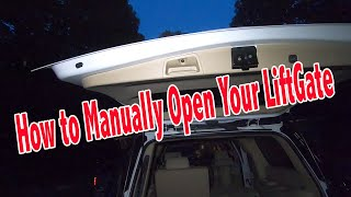 GMC Yukon Liftgate / Tailgate Won't Open, How to Open The Lift-gate Manually.