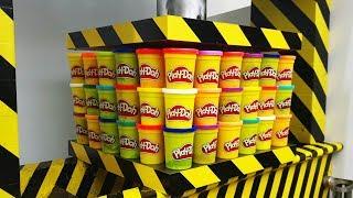 EXPERIMENT HYDRAULIC PRESS 100 TON vs 100 Play Doh