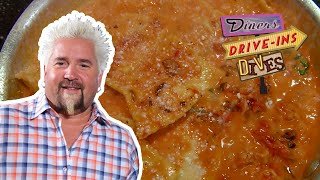 Guy Fieri Eats Some RIDICULOUS Lobster Ravioli (from #DDD) | Food Network