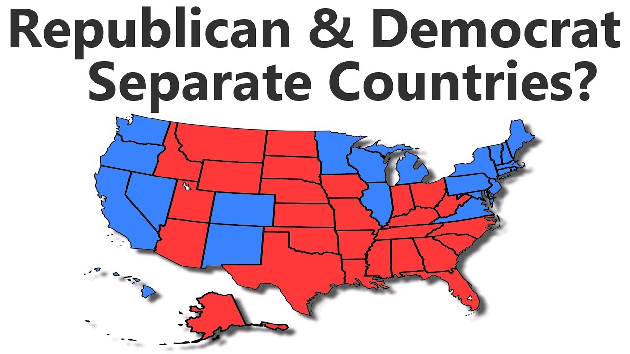 What If Republican and Democrat States Were Separate Countries? thumbnail
