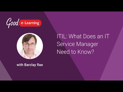 ITIL: What Does an IT Service Manager Need to Know? - YouTube