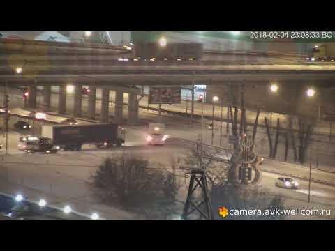 Легкая авария в г Котельники 04.02.2018