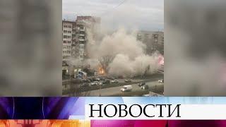 ВИжевске врезультате мощного взрыва разрушен подъезд многоэтажного жилого дома.