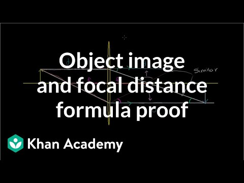 object image and focal distance relationship
