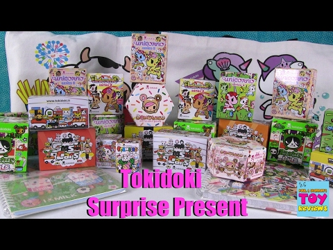 Tokidoki Surprise Present Unboxing Sushi Cars Moofia Donutella & More | PSToyReviews