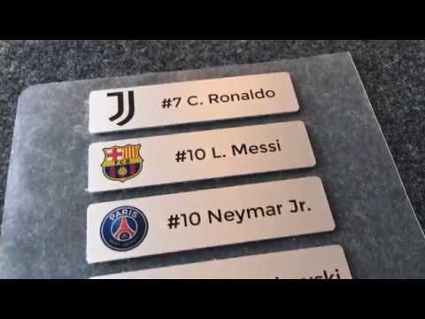 Aluminium Namensschilder für Vereine