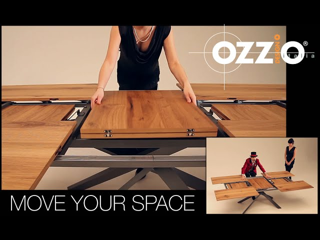 Ozzio 4x4 expandable table the awesomer - Table extensible 20 couverts ...
