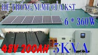 Hệ Thống NLMT Độc Lập 48v 200Ah 5KVA Của KST