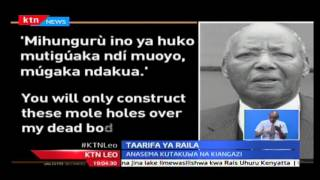 KTN Leo: Raila alalamika mradi wa maji wa maji wa Muranga,10/10/2016