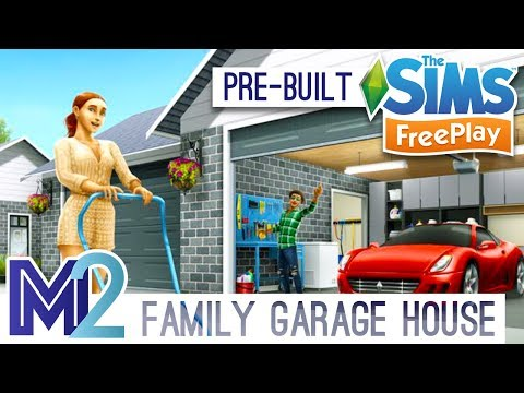 Sims FreePlay - Family Garage House Template (Early Access)