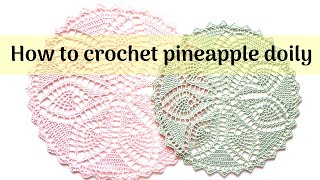 How To Crochet Pineapple Doily