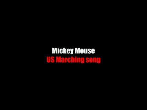 Mickey Mouse Lyrics USA Marching song