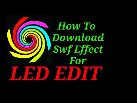 How To Free Download Swf  & Tol  Effect For Led Edit