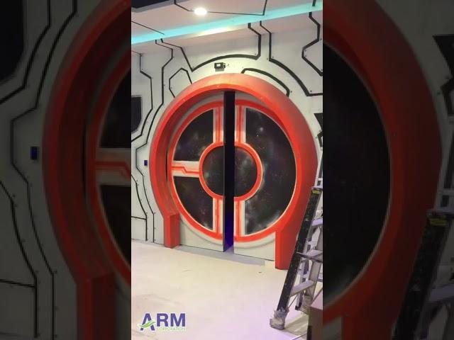 VDO ตัวอย่างหน้างานติดตั้งประตูอัตโนมัติบานเลื่อน ซุ้มประตูแปลกๆ สวยๆ