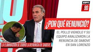 IMPERDIBLE análisis en la mesa de #ESPNF90 sobre la renuncia de #Dabove en #SanLorenzo