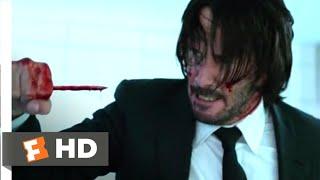 John Wick: Chapter 2 (2017) - Pencil Kill Scene (6/10) | Movieclips