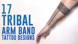 17 Arm Band Tribal Tattoo Designs For Man