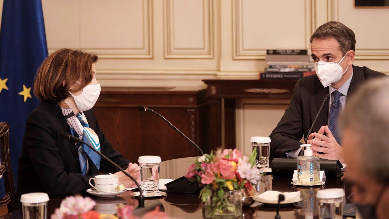 Δηλώσεις του Πρωθυπουργού Κυριάκου Μητσοτάκη με την Υπουργό Άμυνας της Γαλλίας Florence Parly