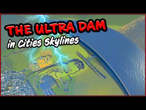 THE ULTRA DAM RUNS in Cities Skylines [Crater Map#24]