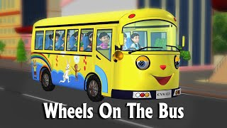 Wheels On The Bus Go Round And Round New - 3D Animation Nursery Rhymes & Songs For Children