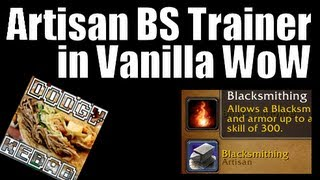 Where to find Artisan Blacksmithing trainer in Wold of Warcraft Classic