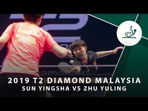 Sun Yingsha vs Zhu Yuling | T2 Diamond Malaysia (QF)