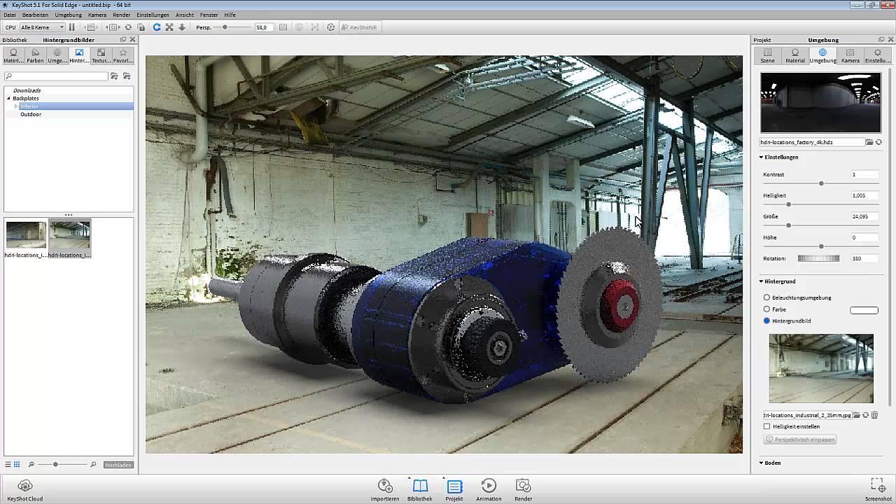 Vorschaubild: Solid Edge: Rendering mit KeyShot