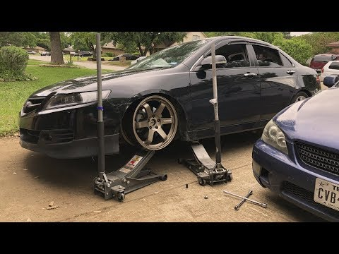 Test Fitting New Wheels on the TSX & Saginaw Lao New Years Vlog 2019!!