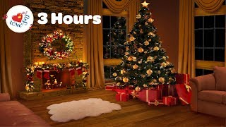 Christmas Songs and Carols with Fireplace | 3 Hours BEST Playlist 2018