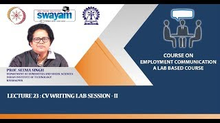 Lecture 23 : CV Writing Lab Session - II