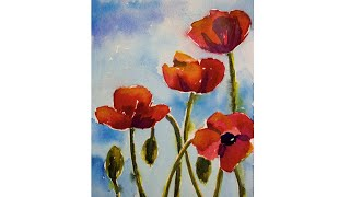 Watercolor: Poppies Tutorial