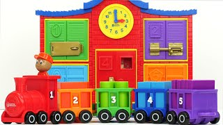 Best Toddler Learning Video For Kids Toy Shapes Train And School!