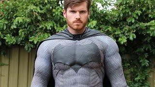 Batfleck Cosplay Update: Gluing Down the bodysuit!