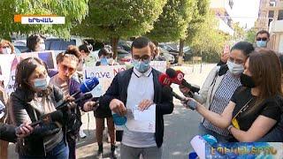 Ցուցարարները պատռել են «Յունիսեֆ»-ի շնորհակալագրերը. բողոքի ակցիա ՄԱԿ-ի գրասենյակի մոտ