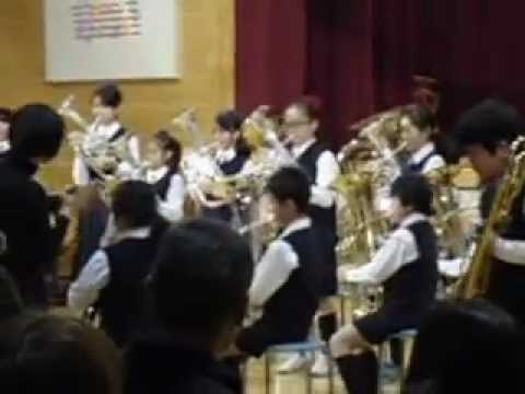 台東育英小学校 金管バンド 「線路は続くよどこまでも」