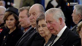 Reprezentanţi ai Caselor Regale din Europa şi Asia, prezenţi la funeraliile Regelui Mihai
