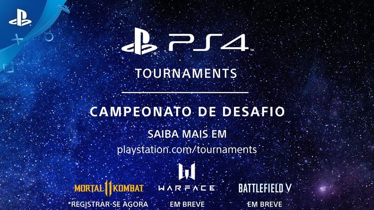 Apresentando PS4 Tournaments: Campeonato de Desafio