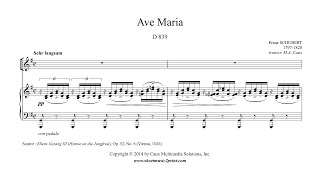 Schubert : Ave Maria - G Major - A NEWER VERSION IS AVAILABLE!