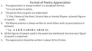 ENGLISH ( Poetry Appreciation)
