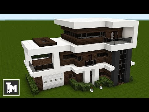 Minecraft How To Build a Modern House Mansion Easy 4K