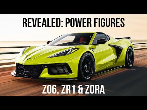 Here's What We Know About Corvette Z06, ZR1, and ZORA Horsepower And Torque Figures