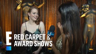 Emma Stone Says It Feels Pretty Crazy To Win  E Live From The Red Carpet