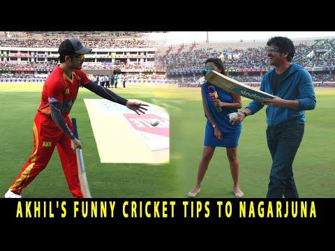 Actor Akhil Funny Cricket Tips To Nagarjuna