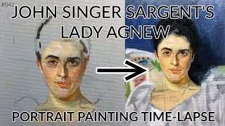 #042 - Painting John Singer Sargents Lady Agnew. Trying To Copy A Masterpiece!
