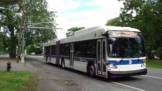 preview picture of video 'MTA New York City Bus: New Flyer XD60 #4797 Bx12 @ Pelham Parkway North & Williamsbridge Road!'