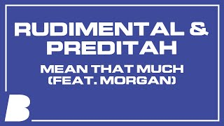 Rudimental & Preditah   Mean That Much (feat. Morgan)