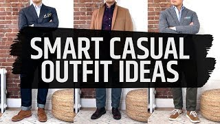 3 Smart Casual Outfit Ideas / Fall And Winter Mens Style • Effortless Gent
